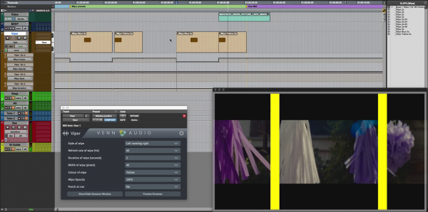 Viper making a streamer across a video